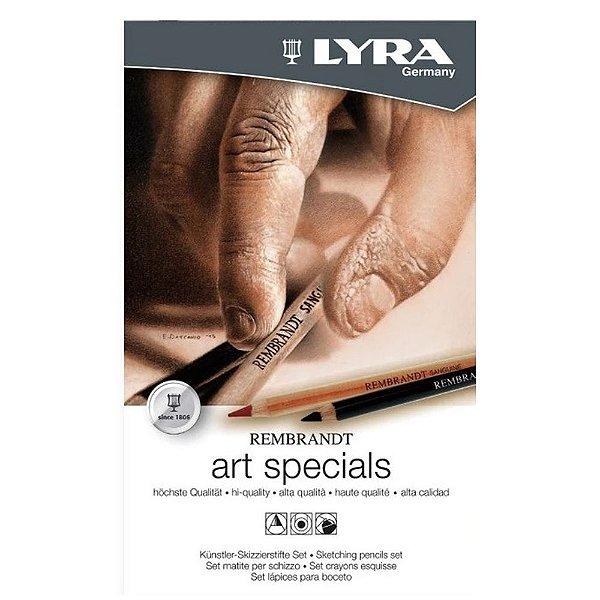 Lápis Profissional Lyra Rembrandt Art Specials 12 Peças Lata