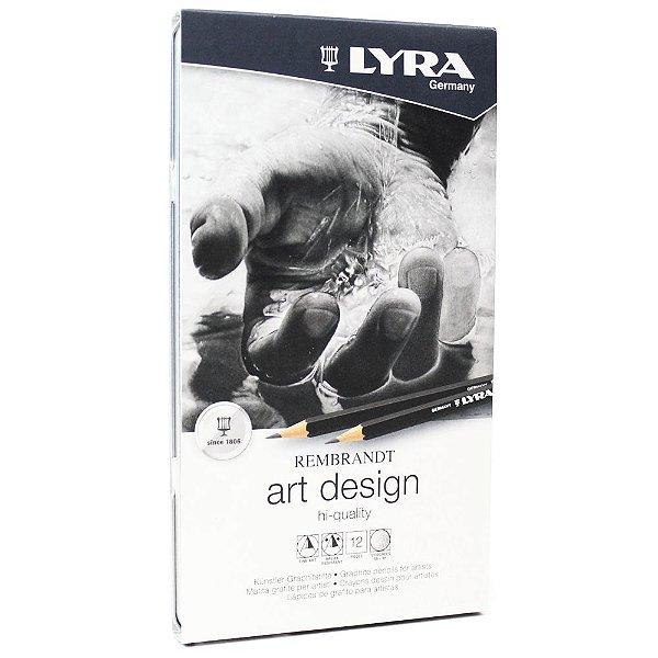 Estojo De Lápis Graduado Rembrandt Art Design Lyra 12 Peças