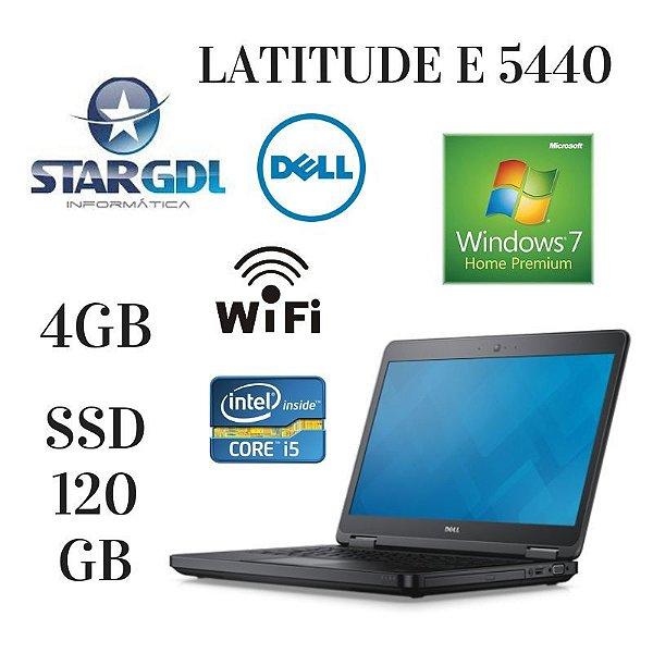 Usado: Notebook Dell Latutide E 5440 Intel Core i5 4210u 2,5 Ghz 4GB DDR 3 SSD 120gb Windows 10 - Fotos Reais