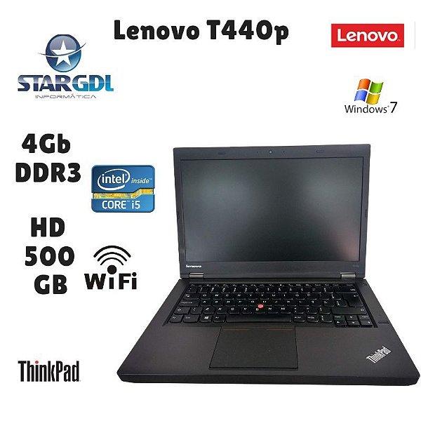 Usado: Notebook Lenovo Thinkapd T440p Intel Core i5 4° Geração 4Gb Ddr3 Hd 500gb Windows 07 - Fotos Reais