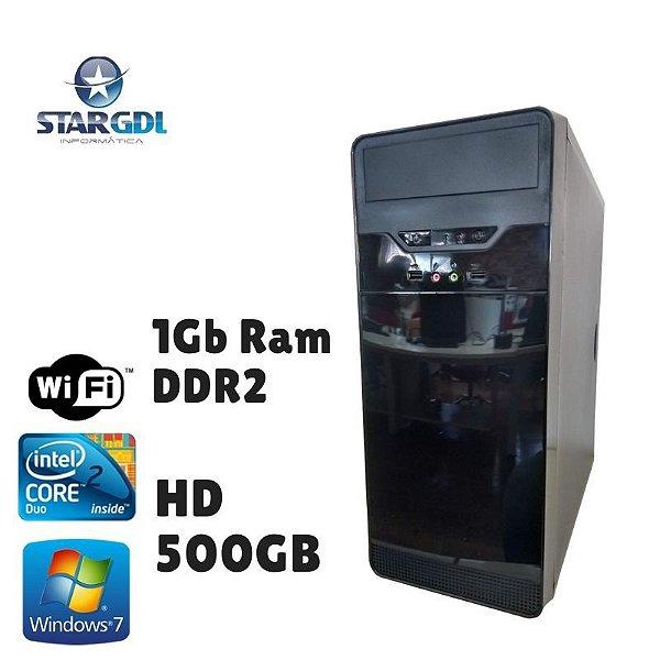 Nova: Computador Intel Core 2 Duo 1GB DDR2 HD 500GB Windows 07