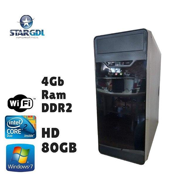 Nova: Computador Montado Intel Core 2 Duo 4GB Ram DDR2 HD 80GB Windows 07