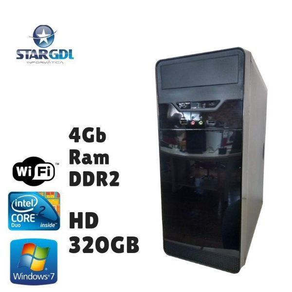 Nova: Computador Montado Intel Core 2 Duo 4GB Ram DDR2 HD 320GB Windows 07