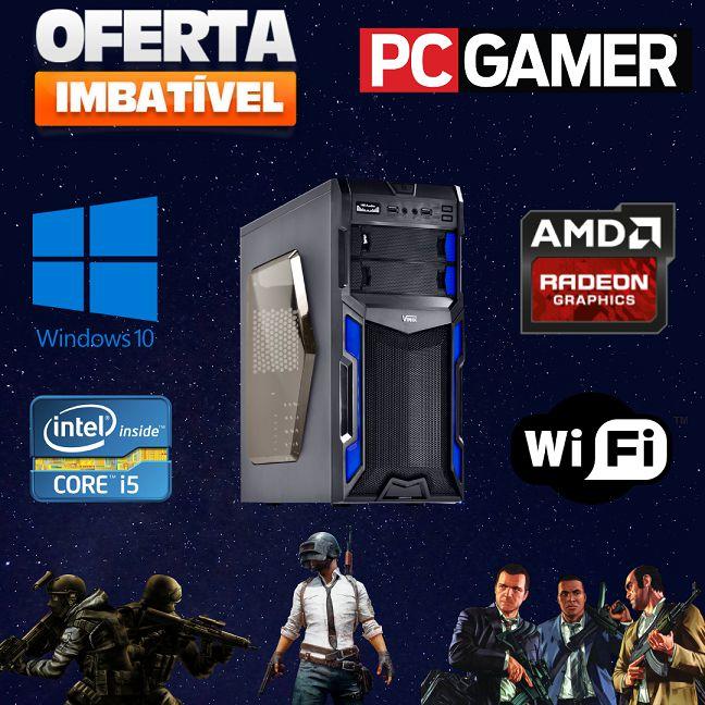 Nova : CPU Gamer Intel i5 16gb Ram Hd 1tb Ssd120 Windows 10 Placa de Vídeo Amd Radeon 2GB