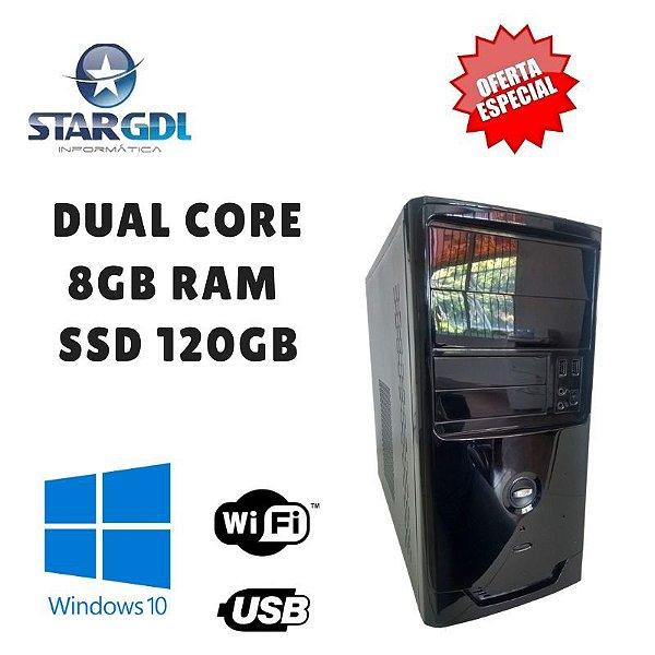Nova : Computador Star Montado Proc. - Pentium Dual 8gb Ram  - Ssd 120GB  - Windows10