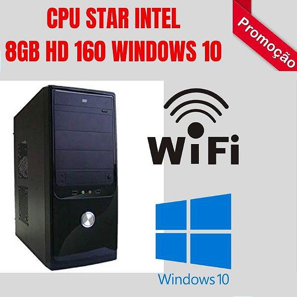 PC STAR CORE 2 DUO 8GB RAM HD 160GB WINDOWS 10 WIFI