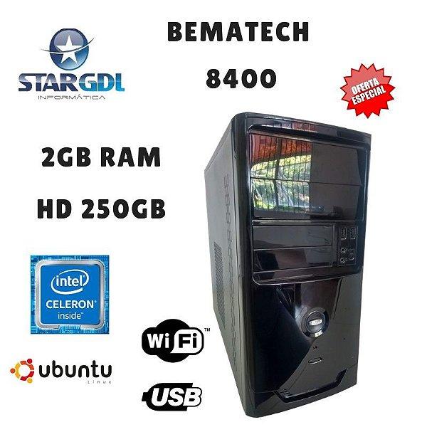 Nova : Computador Montado Bematech 8400 Intel Celeron j1800 2,14 2GB Ram DDR3 HD 250GB Linux Ubuntu