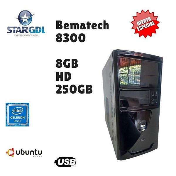 Nova: Computador Bematech 8300 Intel Celeron 8gb Hd 250 Linux