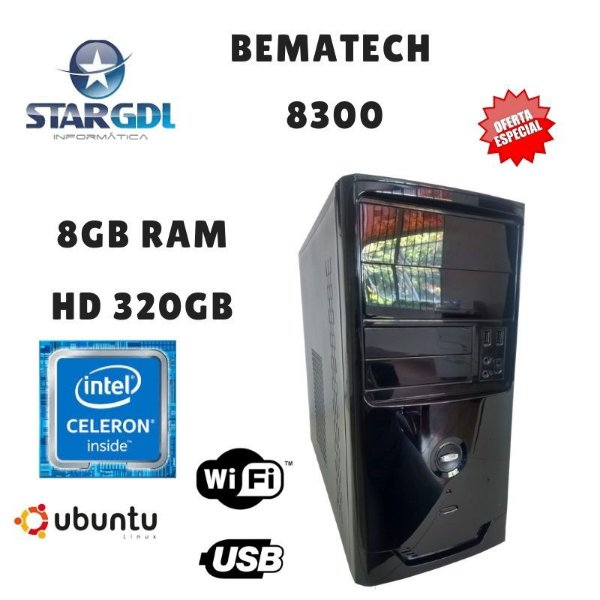 Nova: Computador Bematech 8300 Proc. Intel Celeron 847 8GB Ram DDR2 HD 320GB Linux Ubuntu