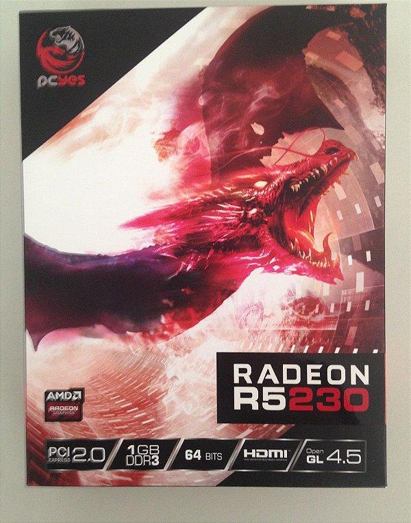 Placa de Vídeo PcyesAmd Radeon R5 230 64 Bits 1GB - Promoção