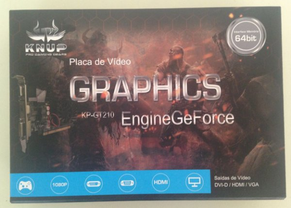 Placa de Vídeo Knup Graphics GT210 1gb Ddr3 64Bits - Nova!