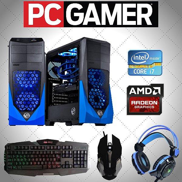 Cpu Gamer Pcyes i7 16gb Ssd240 / 1tb Rx550 4gb + Kit Gamer