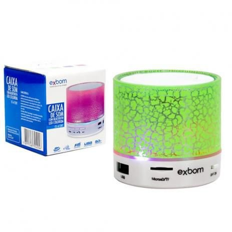 Mini Caixa de som Bluetooth/ Led Colorido Cs - A12bt Exbon