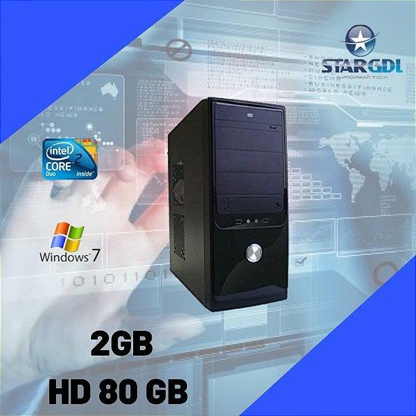 Cpu Star Intel Core 2 Duo 2gb 80gb Windows 7 + Brinde !