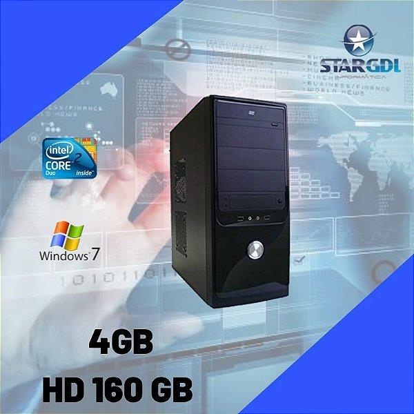 Nova: Computador Core 2 Duo 160gb 4gb Ram c/ Windows 7