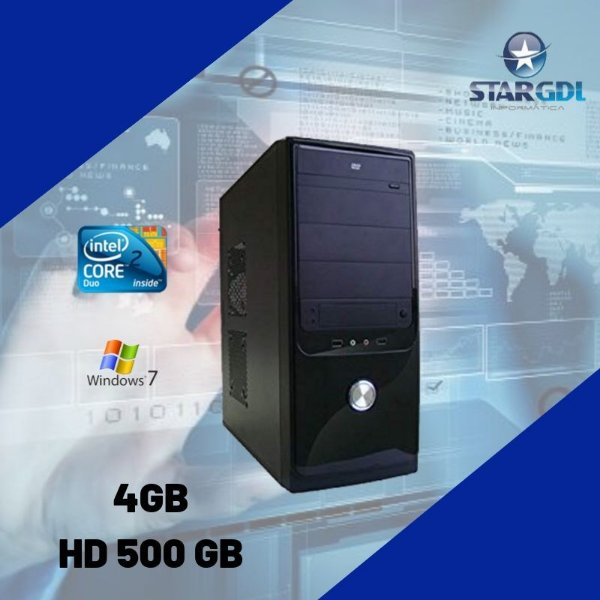 Nova: Cpu Star Montada 4gb Hd 500gb Windows 7 + Brinde !