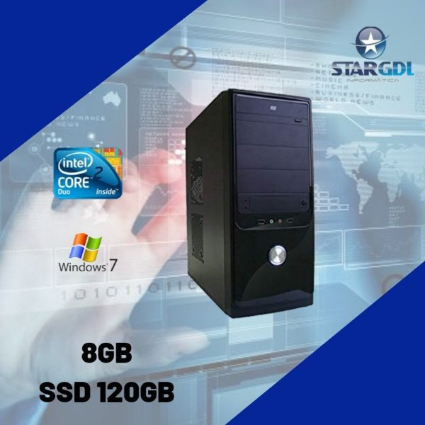 Nova: Pc Premium Proc. Intel Core 2 Duo 8gb SSd 120 Windows 7