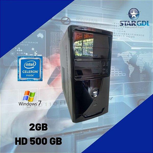 Pc Montado Celeron 2gb Ram Hd 500gb + Windows 7