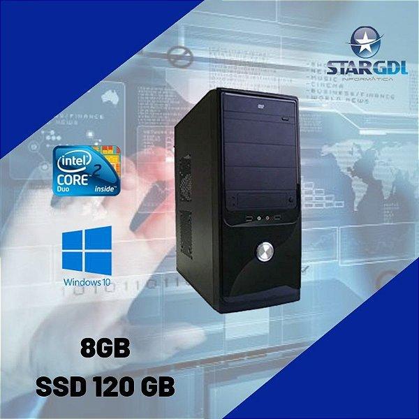 Pc Montada StarMax Core 2 Duo 8gb SSd 120 gb Windows 10 Nova