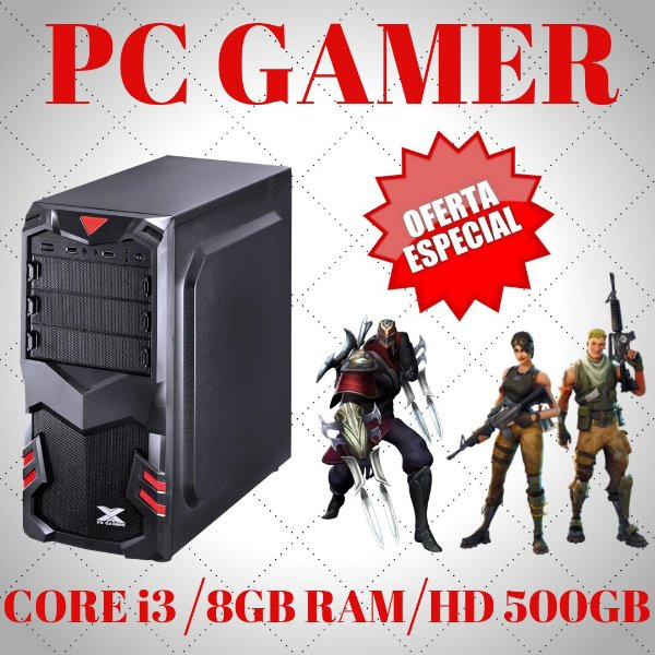 Cpu Gamer Core i3 8gb 500gb Wifi Windows10 + Placa Vídeo 2gb