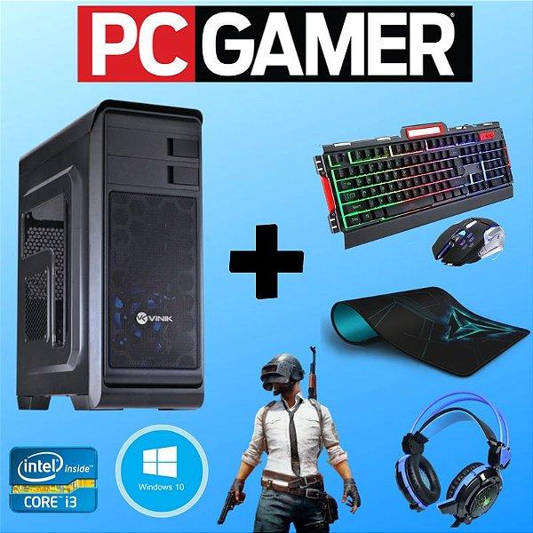 Cpu Gamer Core i3 8gb Hd 1tb Vídeo 2gb Kit Gamer + Jogos!