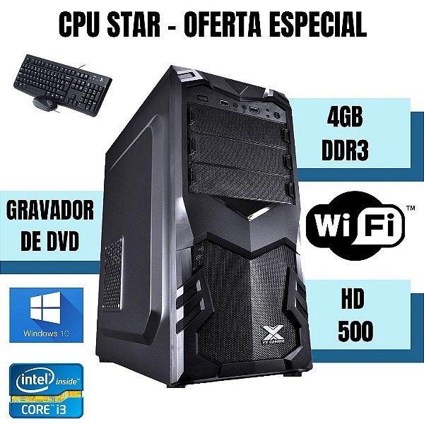 Cpu Desktop Core i3 4gb Ram 500gb Win10 Teclado E Mouse Nova