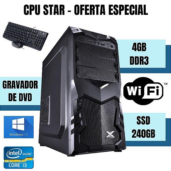 Desktop Core i3 4gb Ram Ssd 240gb Windows 10 Usb!