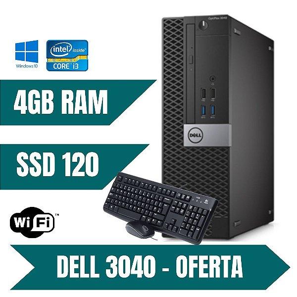 Cpu Dell Core i3 4gb Ssd 120gb Win10 Com Programas + Brindes