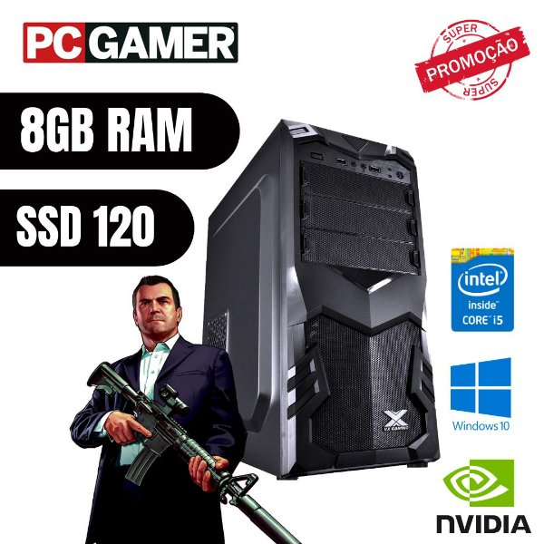 Pc Gamer i5 8gb Ram Ssd 120gb Hd 1tb Win10 Pró Gtx 750ti !!