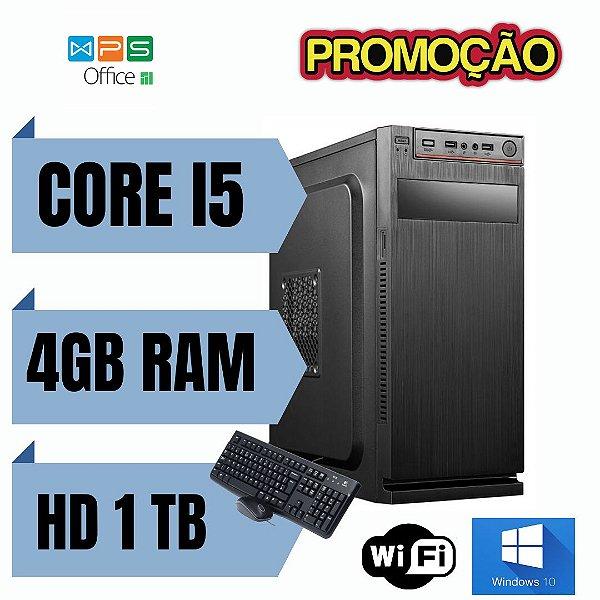 PC TORRE - Intel Core i5 4gb Ram Hd 1tb Windows 10 Pró Nova