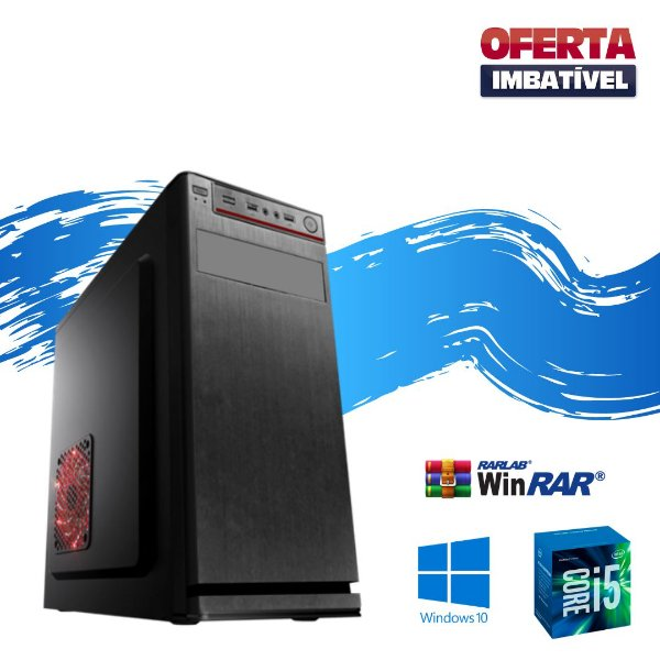 Cpu Montada Core i5 4gb Ram Hd 500gb Windows 10 Pró