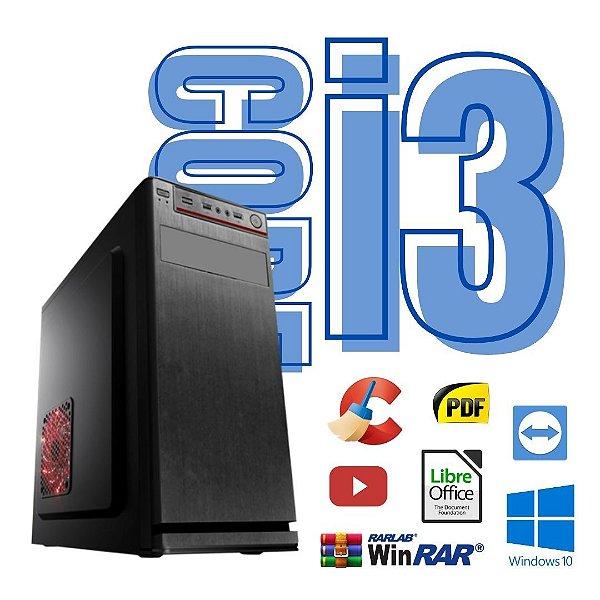 CPu Torre Core i3 4gb Ram SSd 480gb Win10 + Gravador de DVD.