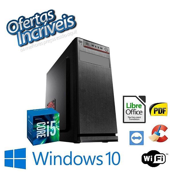 Pc Montado i5 4gb Ram Ssd 240gb Windows 10 - Gravador de DVd