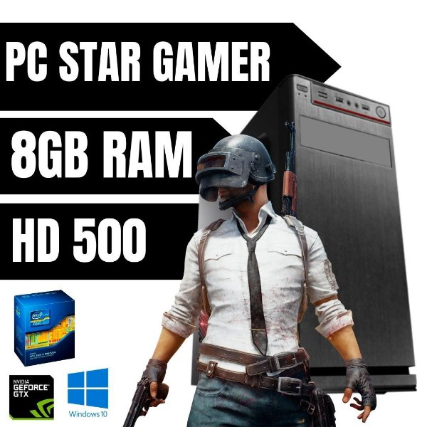 Pc Gamer i5 - 3570 3.4 8gb Ram Hd 500 Win10 - Nvidia 2gb Off