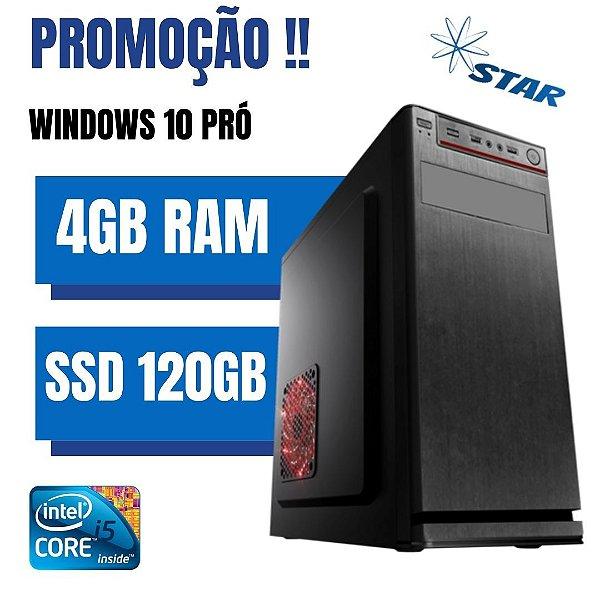 Cpu Desktop Core i5 4gb Ram SSd 120gb Windows 10 Frete