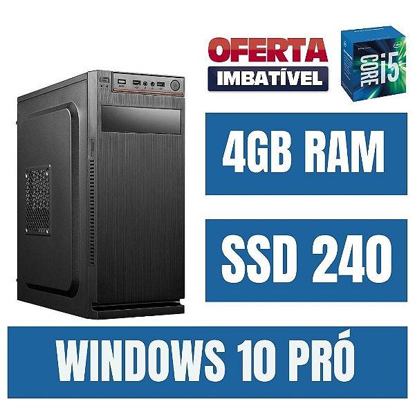 Cpu Star - Intel Core i5 - 4gb Ram 240gb - Windows 10 Pró !!
