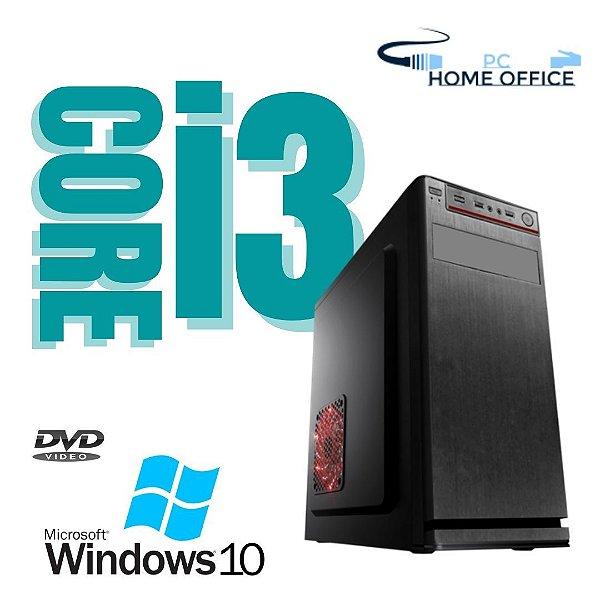 Pc Montada i3 8gb SSd 240gb Windows 10 Pró - Gravador de DVD