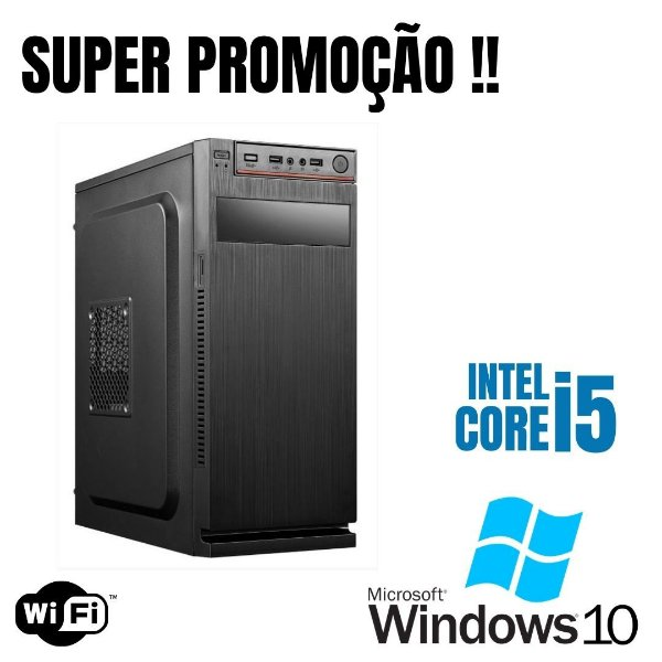 Cpu Intel Core i5 8gb Ram SSd 480 - Hd 1tb Win10 - Wfi Nova