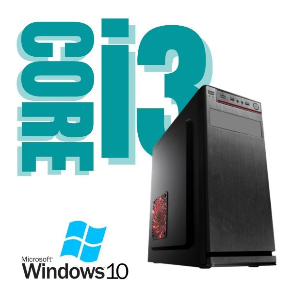 Pc Desktop Core i3 8gb - Hd 500 + SSd 240 - Windows 10 Nova