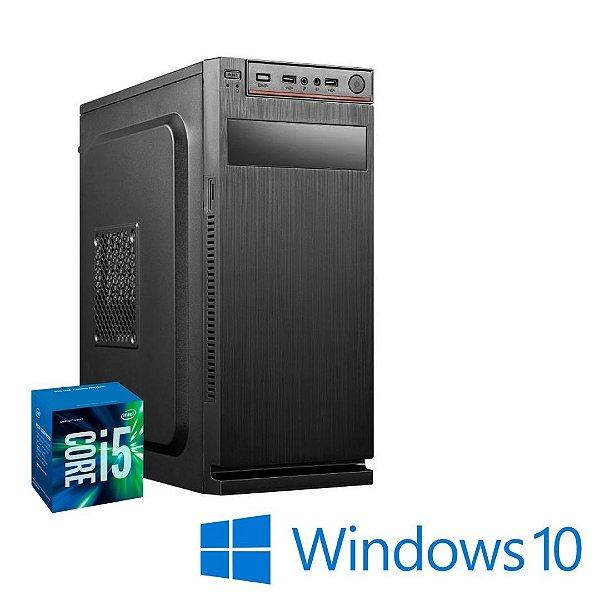 Computador Cpu Desktop Pc Star Core i5 4gb Ram SSd 240gb Windows 10 Pró - Gravador de DVD - Teclado e Mouse e Pacote de Programas