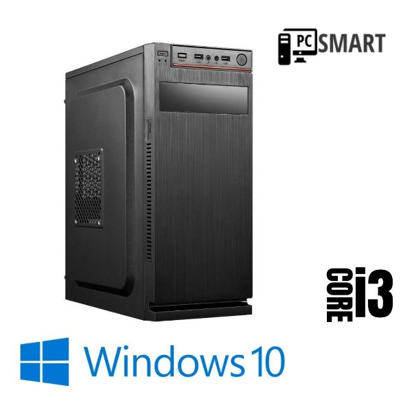 Computador Cpu Pc Desktop Core i3 4gb Ram Hd 1tb Windows 10 Pró Original  - Gravador de Dvd - Programas Basicos + Teclado e Mouse