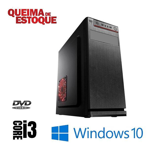 Cpu Desktop Intel Core i3 4gb Ram Ssd 480gb Windows 10 Pró DVD - Programas Basicos - Teclado e Mouse Simples  Star