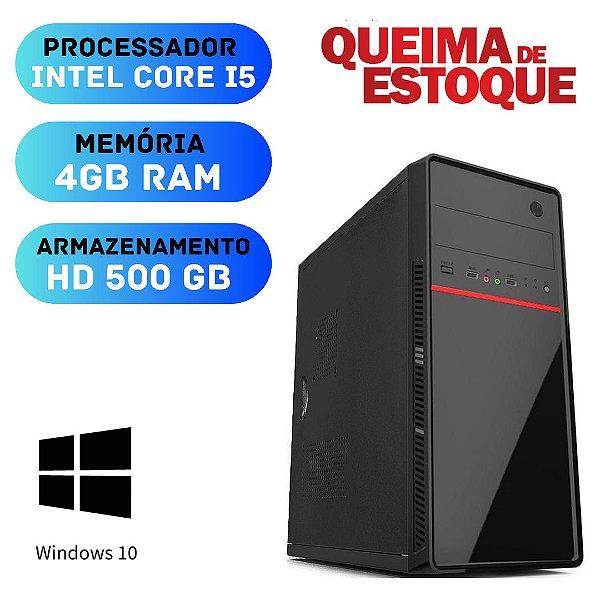 Pc Desktop Core i5 4gb RAM 500gb Windows 10 Oem + Programas.