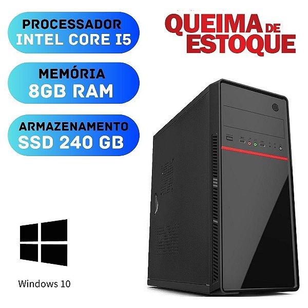 Cpu - Desktop - Core i5 8gb SSd 240 Windows 10 - Programas