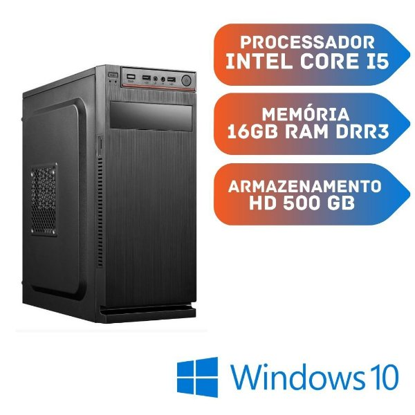 Cpu Strong Core i5 16gb Ram Hd 500gb Windows 10 Programas.