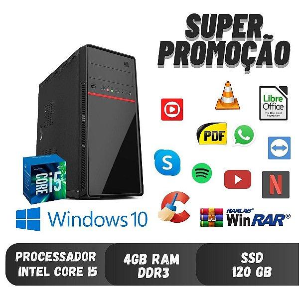 Cpu Smart Core i5 4gb Ram DDR3 120gb de SSd Win10