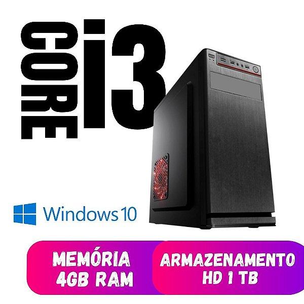 Computador Pc Cpu Desktop Star  Core i3 4gb Ram Hd 1tb Windows 10 OEM Programas - Teclado e Mouse