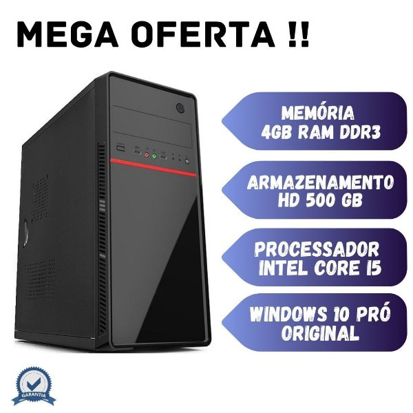 Cpu Desktop i5 4gb Ram 500gb de Hd Windows 10 OEM Promoção !