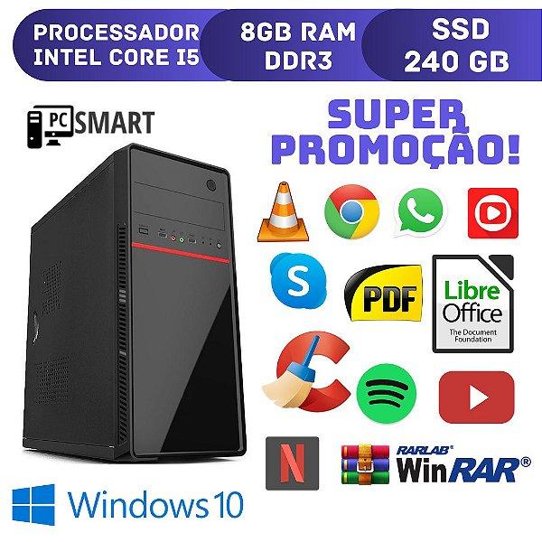 Computador Core i5 8gb Ram 240gb de SSd Windows 10 Original