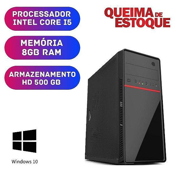 Cpu Intel Core i5 8gb Ram Hd 500gb Win 10 Pro Dvd Nova
